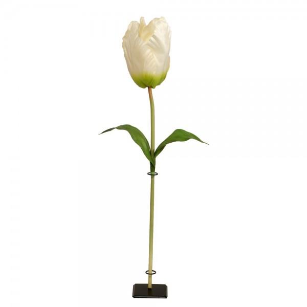 Tulpe XL Blume weiß, 135 cm, Ø 20 cm