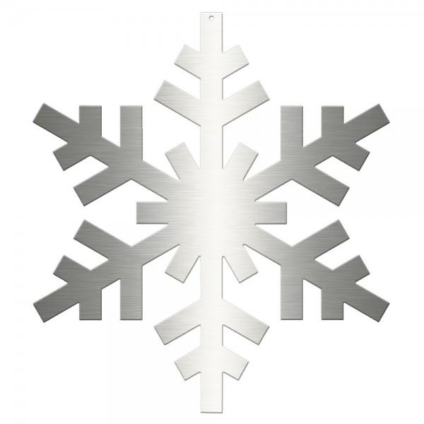 Eiskristall 2D Edelstahl silber, Ø 45 cm