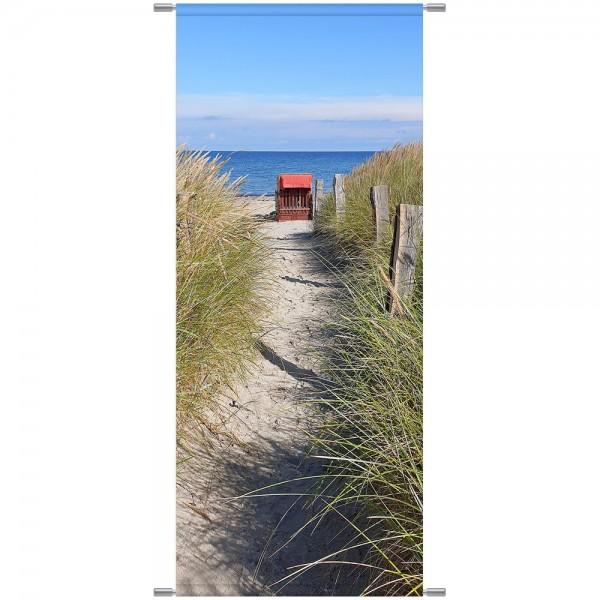 Banner Ostsee/Strandkorb, 75 x 180 cm