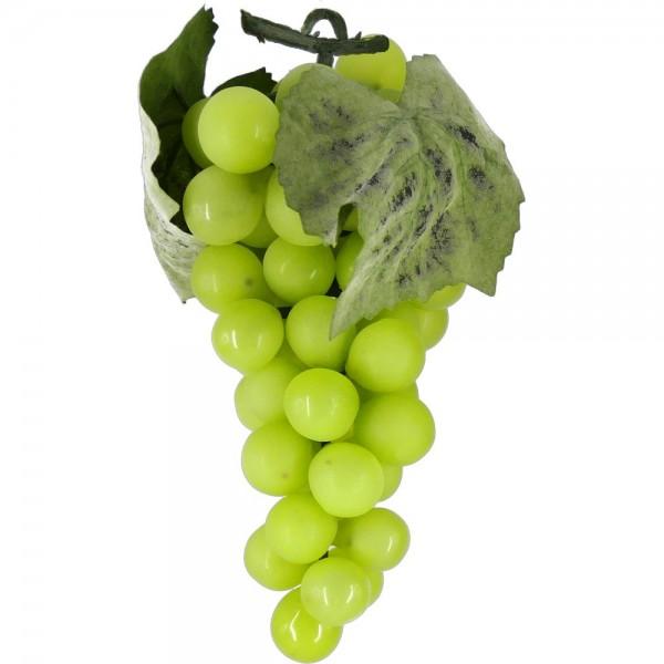 Weintraubenhenkel Attrappe grün, 16 cm