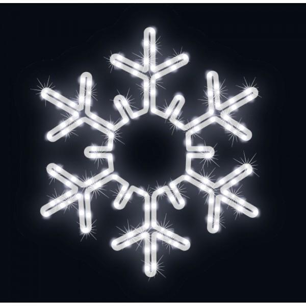 LED ExConnect230 Snowflake kaltweiss,Ø 53 cm, 10 W