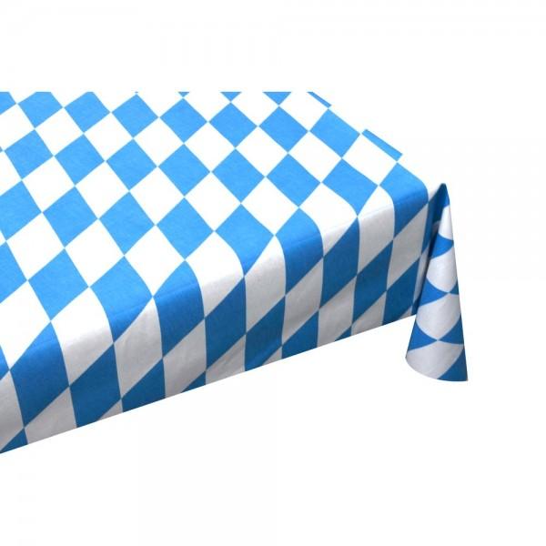 Rautenstoff Bayern aus Baumwolle, blau-weiß, 150 cm breit
