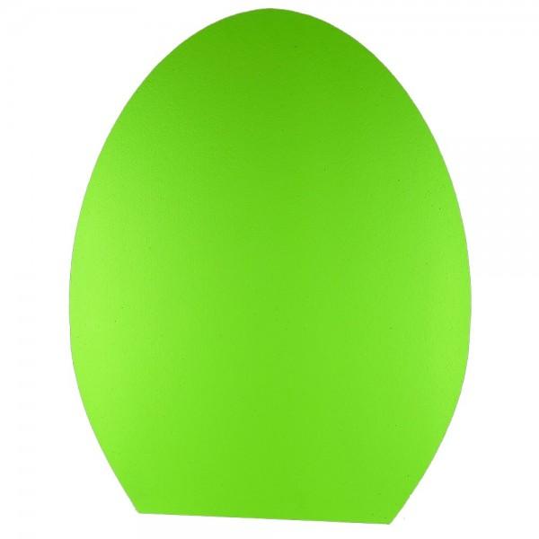Ei stehend 2D Styrofoam grün