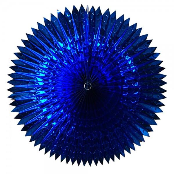Faltfächer Metallfolie blau, Ø 90 cm
