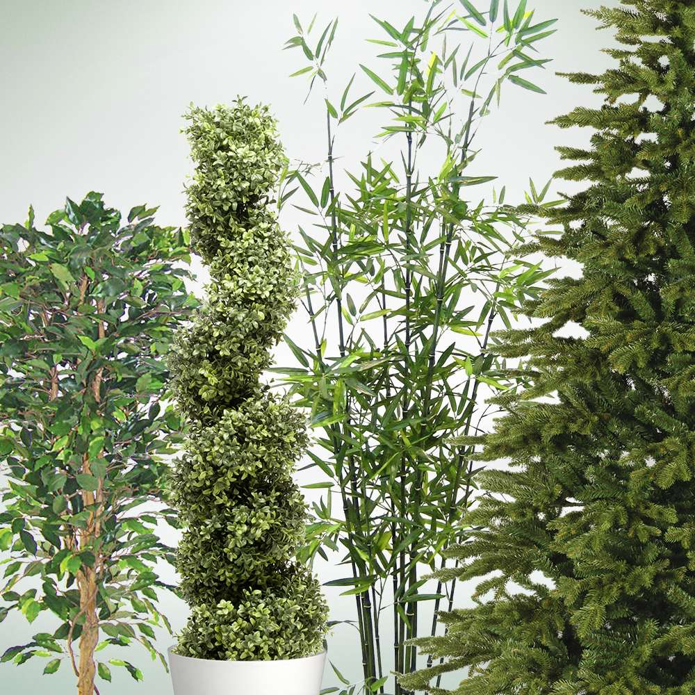 Künstliche Pflanzenattrappen und Kunstbäume