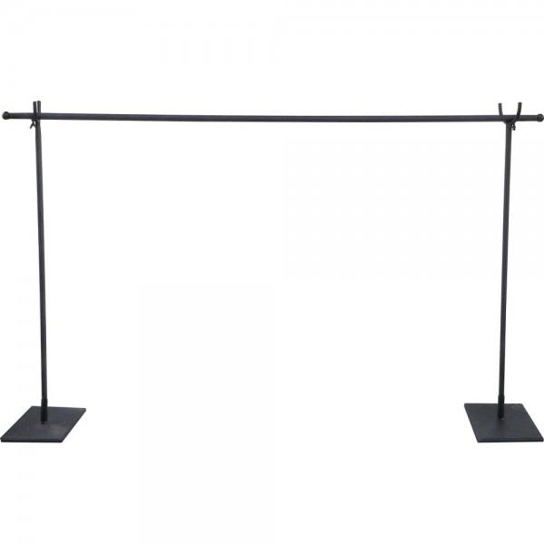 Variabler Dekorationsständer Metall schwarz, 127-236 x 81,5 cm