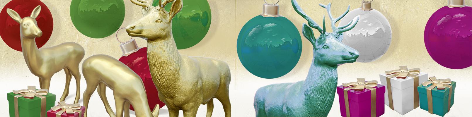 Fiberglasobjekte für Weihnachten