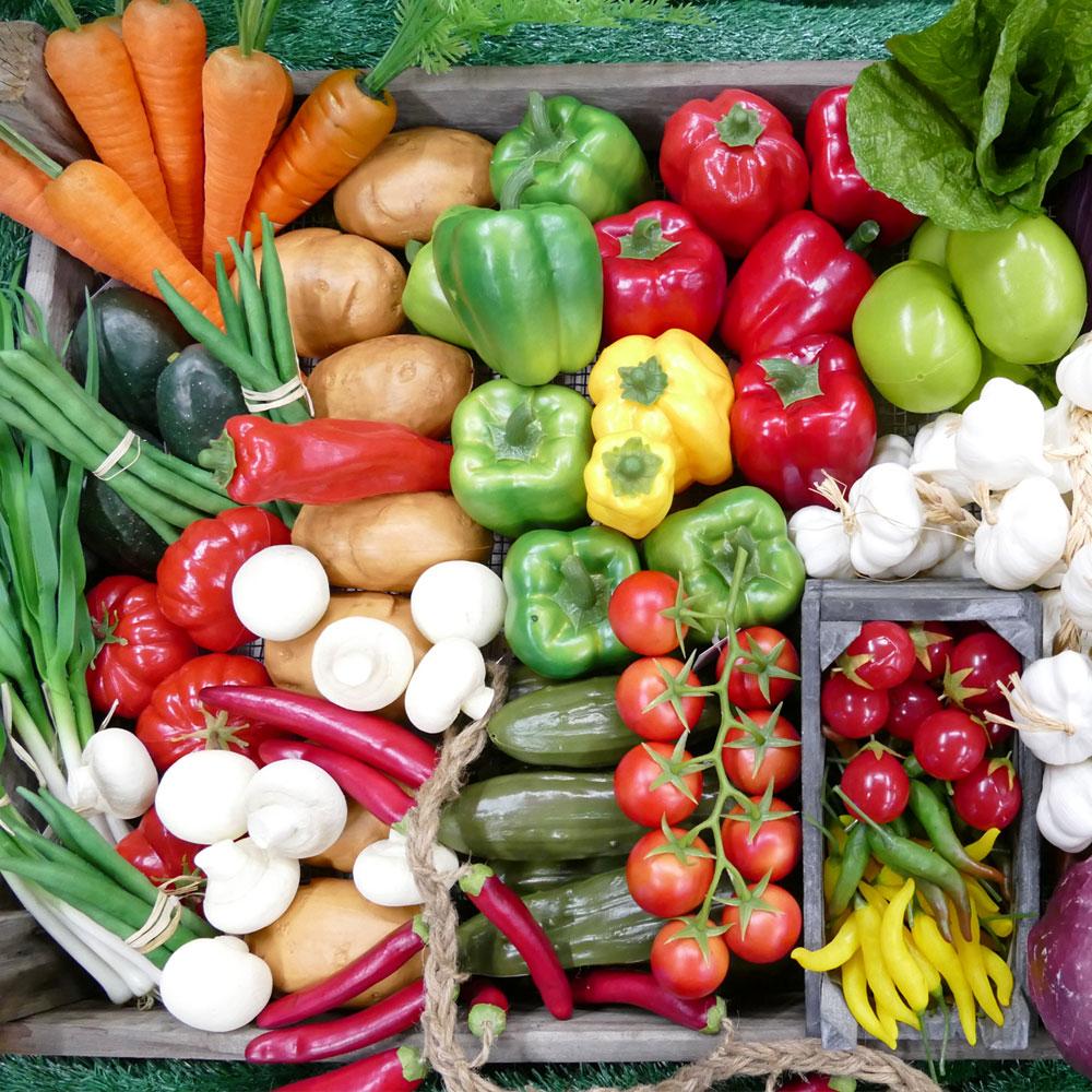 Lebensmittelattrappen und künstliches Fake-Food aus lebensmittelechten Materialien