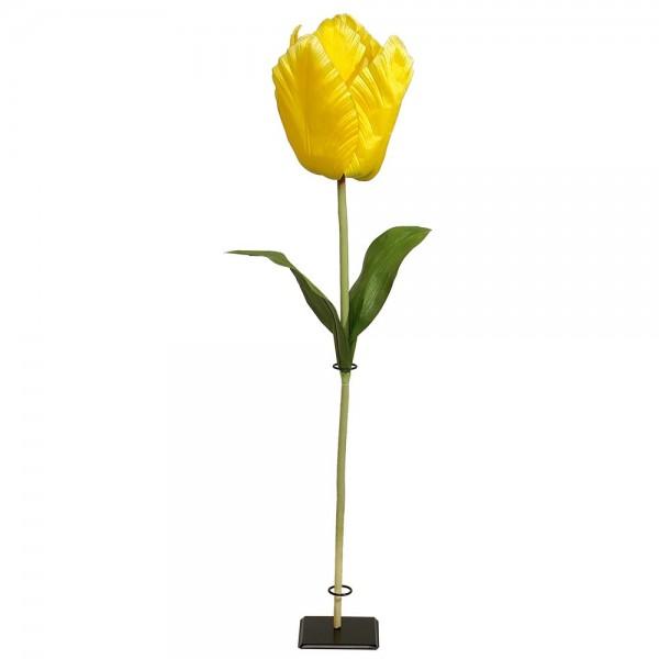 Tulpe XL Blume gelb, 135 cm, Ø 20 cm