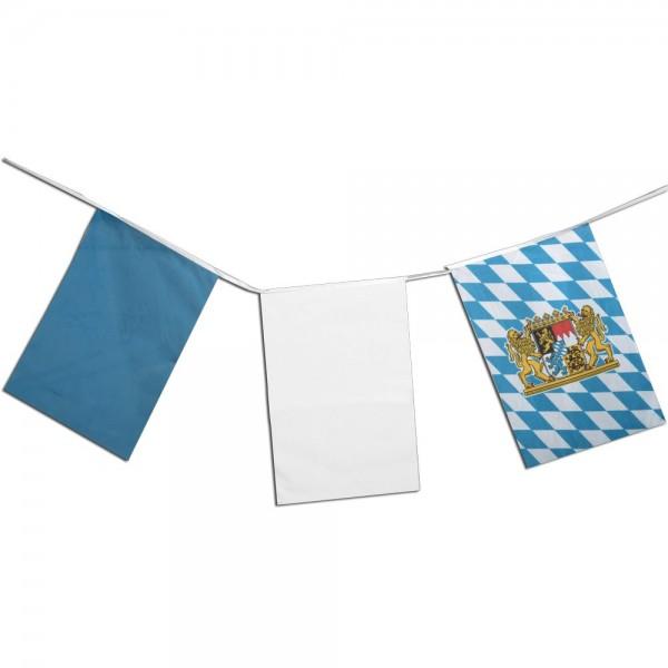 Fahnenkette Bayern Oktoberfest Longlife 30 x 45 cm L 10 m