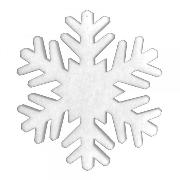 Schneekristall Watte XL weiß, Ø 60 cm