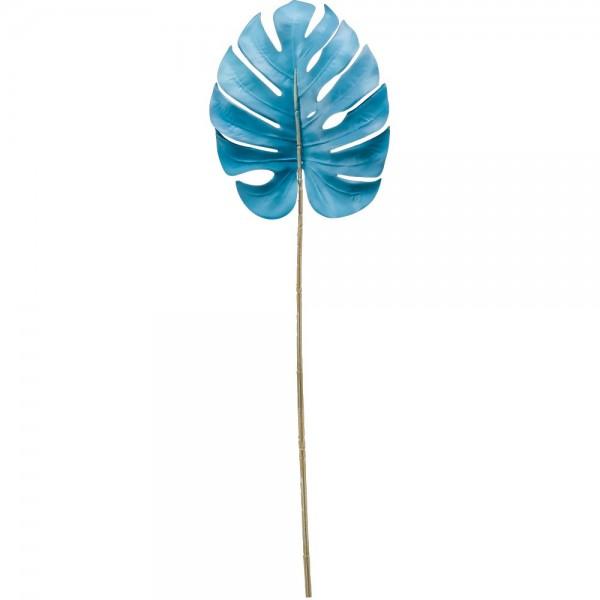 Monstera-Blatt Color hellblau, 75 cm