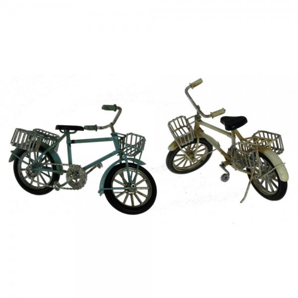 Fahrrad Metall 1 Stück, 16 x 5,5 x 9 cm, farblich sortiert