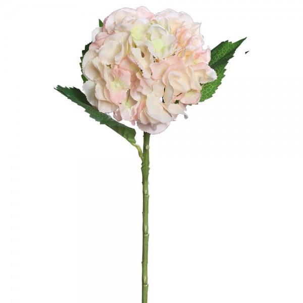 Hortensie mit 3 Blätter rose, 44 cm