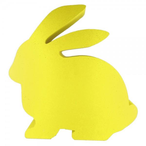 Hase sitzend Styrofoam gelb