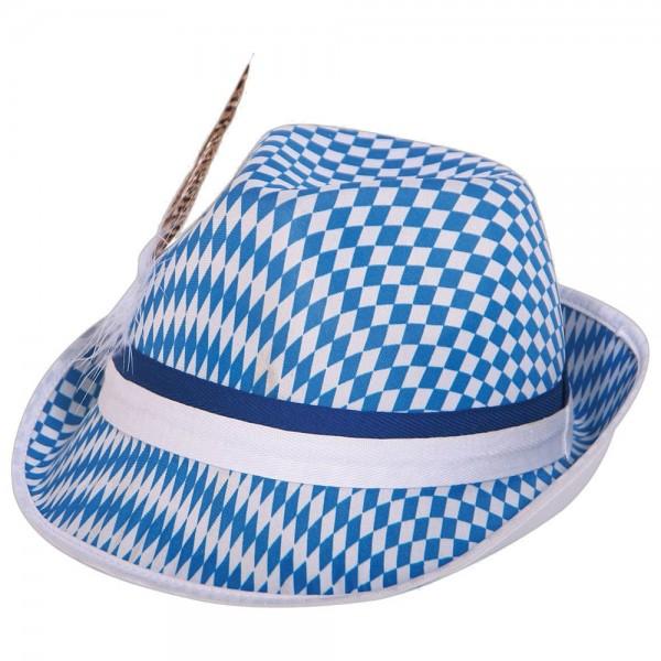 Bayern Tiroler Hut blau-weiß Rautendruck, 28 cm unisize