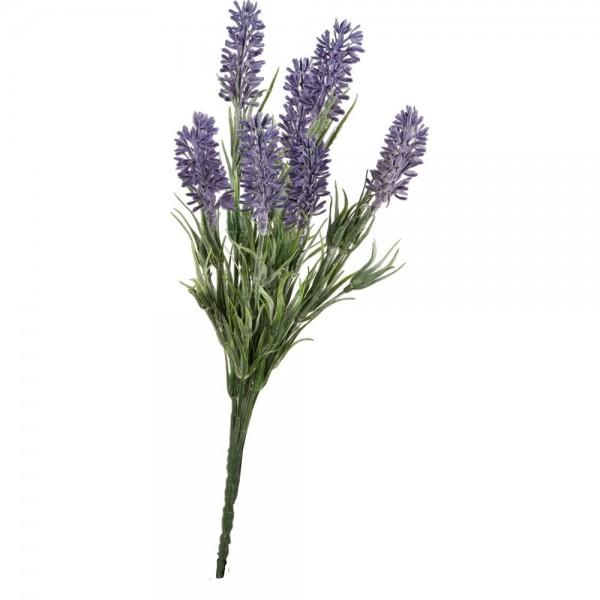 Lavendelbusch x7 grün/lila, 33 cm