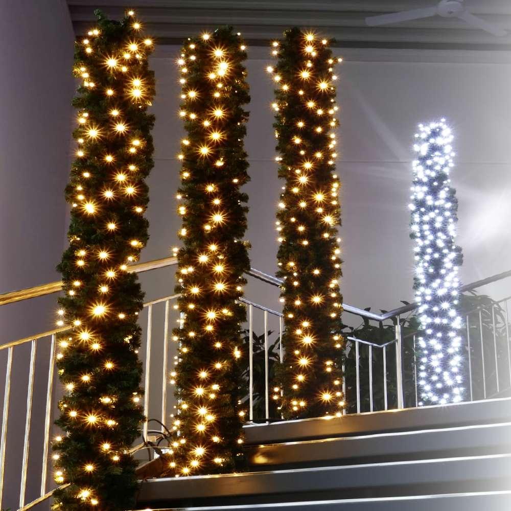 LED-Lichterketten und weihnachtliche Profibeleuchtung, Lichtnetze und Lichtvorhänge