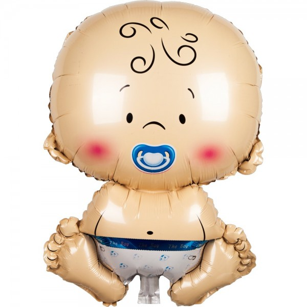 Folienballon Baby Junge blau, 50 cm
