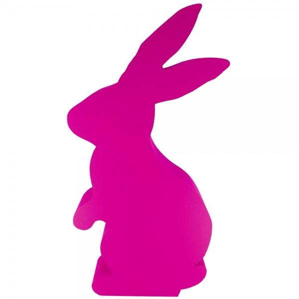 Hase stehend Styrofoam pink
