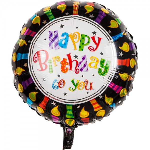 Folienballon Happy Birthday to You, 45 cm