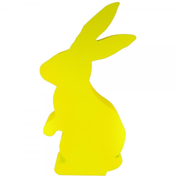 Hase stehend Styrofoam gelb