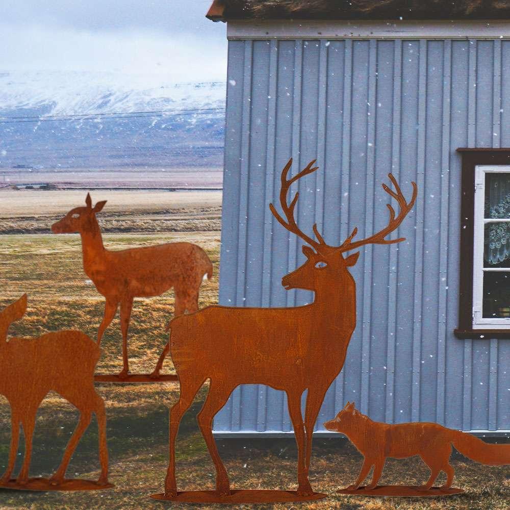 Trendige Rostartikel für Garten und Schaufenster zum Stellen oder Hängen