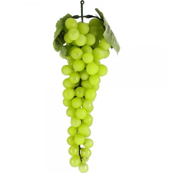 Weintraubenhenkel Attrappe grün, 30 cm