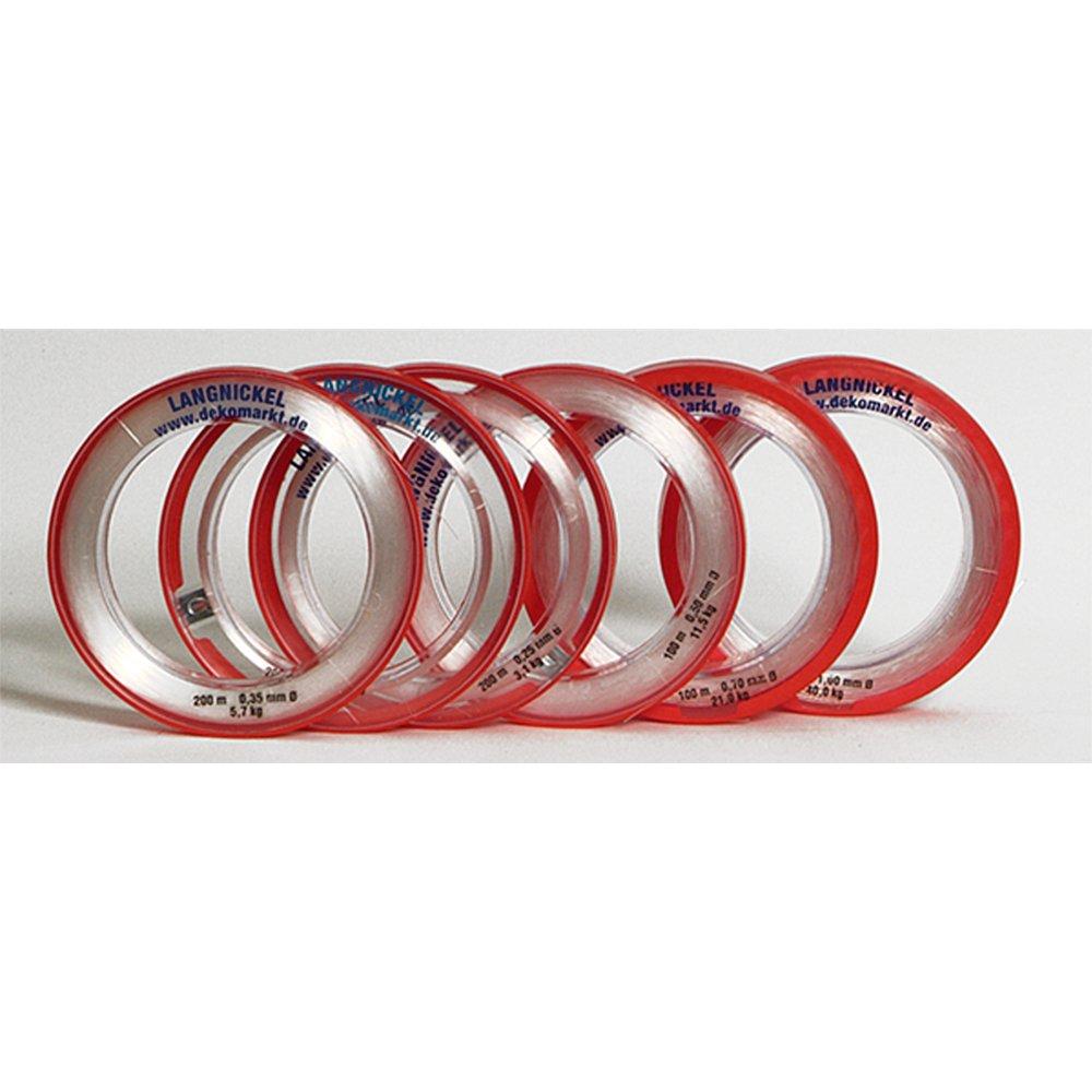 Nylonfaden transparent weiß 0,80 mm x 25 m bis 22 kg 0,12€//m