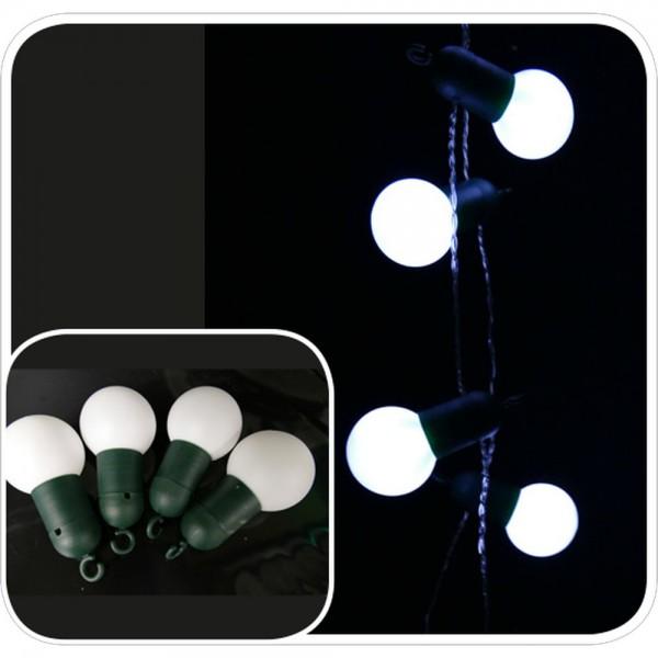 Partybälle weiß 20 Sück Ø 5 cm, für 5 mm LED-Lichterketten