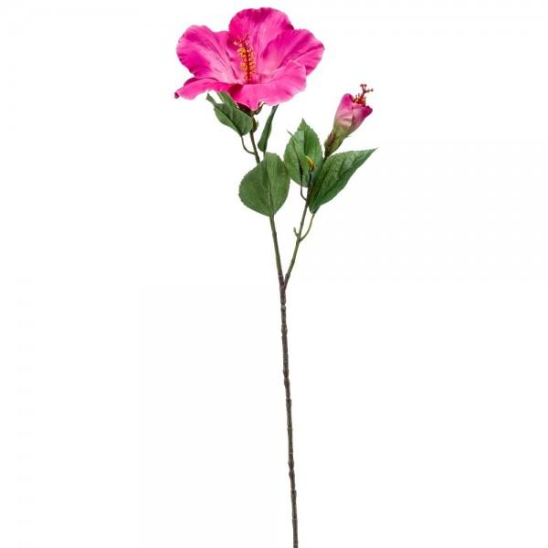 Hibiscus Zweig x2 pink, 65 cm