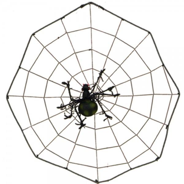 Spinne im Netz, Ø 41 cm, Spinne 18 cm