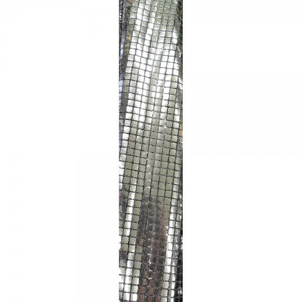 Stoff Pailletten silber, 112 cm breit
