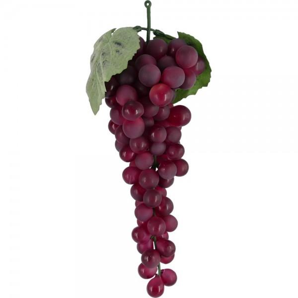 Weintraubenhenkel Attrappe rot, 30 cm