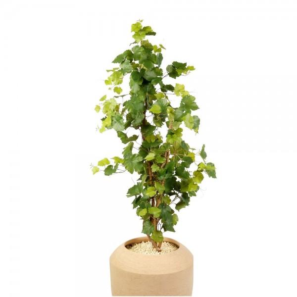 Weinrebenstock Attrappe getopft grün, H 120 cm