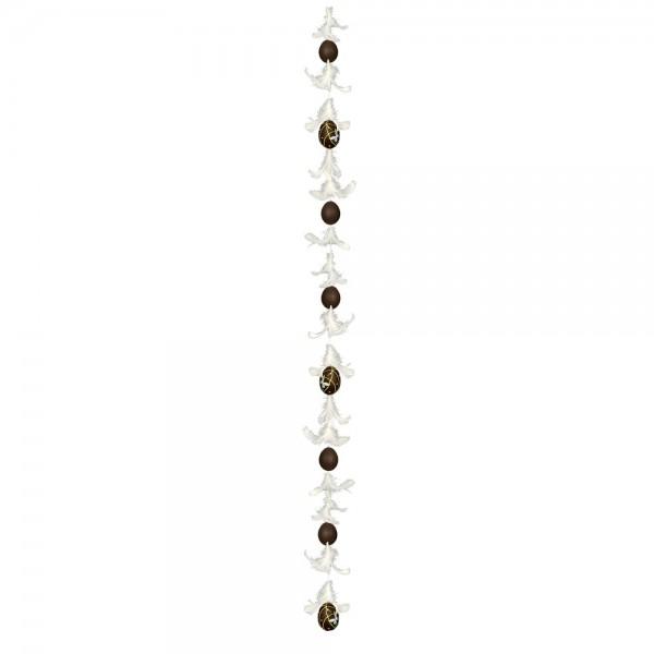 Eierfedernkette mit 8 Eiern, 150 cm