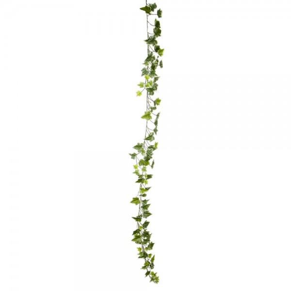 Efeugirlande Waterproof grün/weiß, 180 cm
