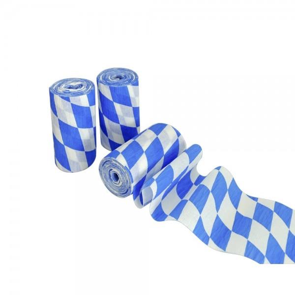 Rautenkrepp-Papier Bayern, 10 cm x 10 m, 3 Rollen