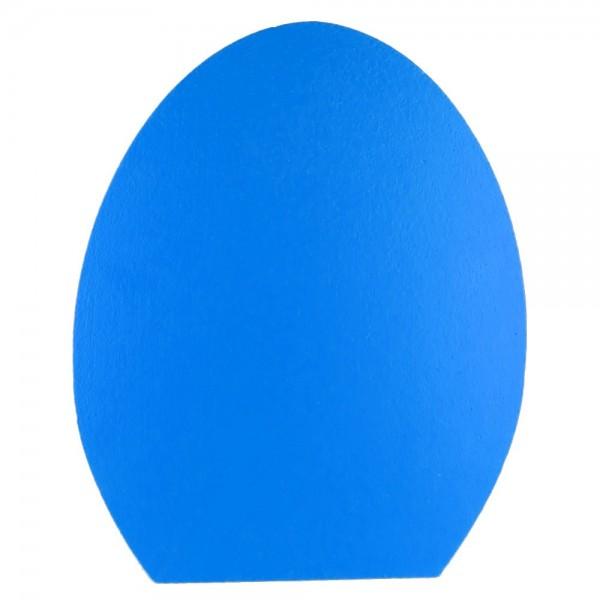 Ei stehend 2D Styrofoam blau