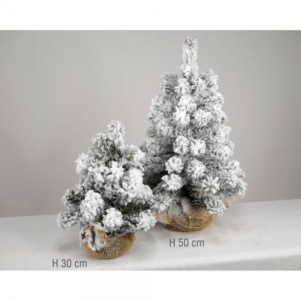 tannenbaum im jutesack beschneit h 70 cm 50 cm. Black Bedroom Furniture Sets. Home Design Ideas