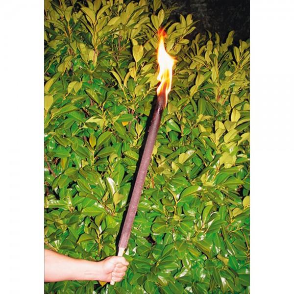 Wachsfackel mit Stab, Brenndauer ca. 2 Stunden, 65 cm