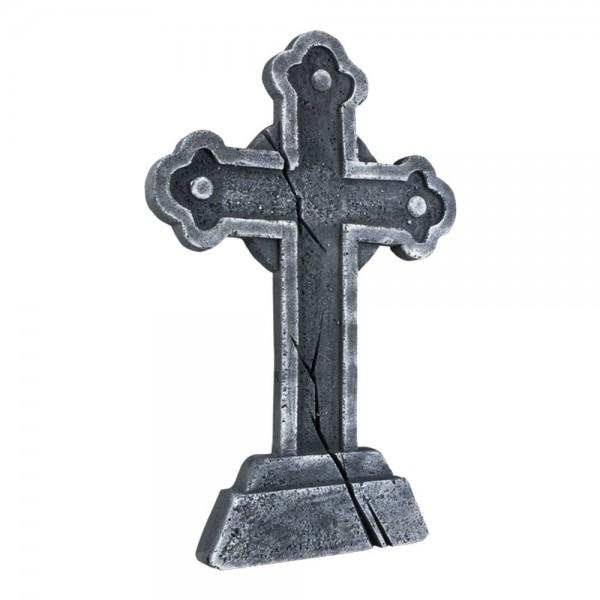 Grabstein Kreuz grau, 60 x 40 cm