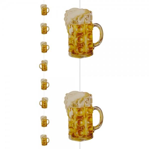 Bierkrug-Kette Oktoberfest aus Karton, 11 x 15,5 cm, L 2 m