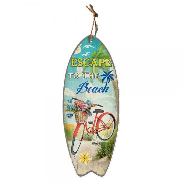 Surfbrett Escape to the Beach bunt, B 30 x T 1,8 x H 78 cm