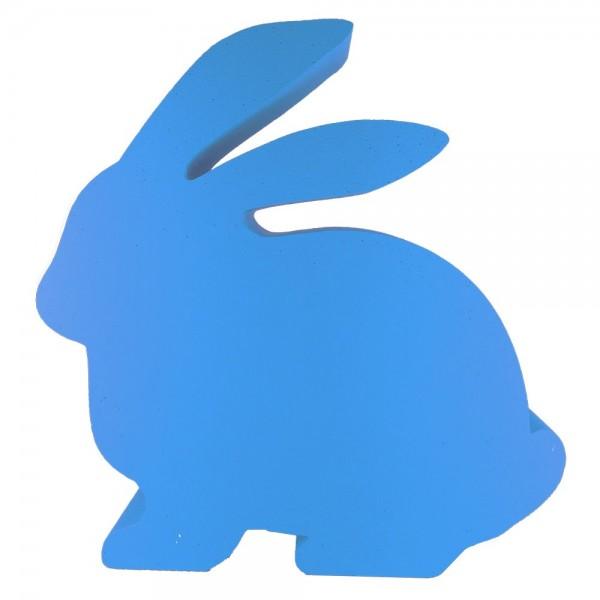 Hase sitzend Styrofoam blau